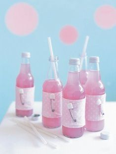 cute ideas for drinks for a baby shower