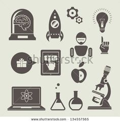 Vector set of icons for innovation and science by Vector pro, via ShutterStock