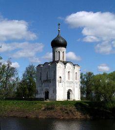 "One of the oldest Russian Orthodox Churches ""Pokrova na Nerli"", XI century"