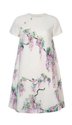 Wisteria Print Short Sleeve Dress by Shanghai Tang