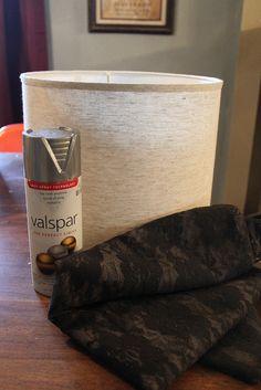 decoro sin decoro: Pintar una pantalla de lámpara con spray