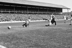 Blackburn Rovers v Manchester United, league match at Ewood Park, Saturday 3rd April 1965