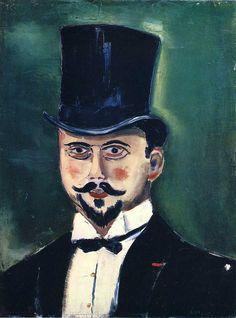 Man in a Top Hat.  Maurice de Vlaminck