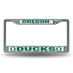 Oregon Ducks 'O' Logo Chrome License Plate Frame