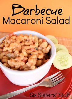 Macaroni Salad Barbecue Macaroni Salad Recipe from . The perfect side dish for any BBQ or party!Barbecue Macaroni Salad Recipe from . The perfect side dish for any BBQ or party! Side Dish Recipes, Side Dishes, Dinner Recipes, Party Recipes, Yummy Recipes, Potluck Recipes, Recipies, Soup And Salad, Pasta Salad