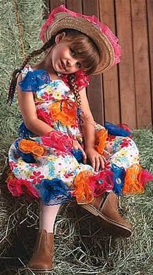 Cute little girl wearing a typical clothing of St. Joao feast - Brazil.