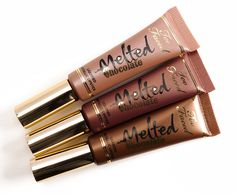 Too Faced Chocolate Melted Lipstick Photos & Swatches Melted Lipstick, Brown Lipstick, Too Faced Melted Chocolate, Melting Chocolate, Chocolate Lipstick, Lipstick Photos, Too Faced Lipstick, Thing 1, Creme Color