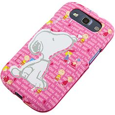 #Peanuts Protector Case for #Samsung Galaxy S III, #Snoopy Pink $15.99 From #DayDeal