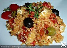Bulgur - Tomaten - Feta - Pfanne