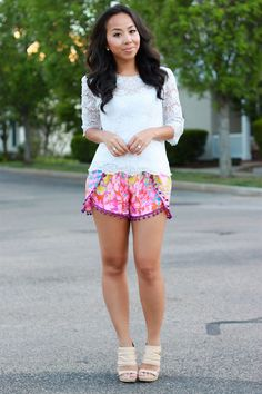 Customizable pompom shorts by iamKhatu on Etsy, $50.00