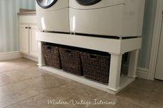 DIY washer/dryer riser by concetta