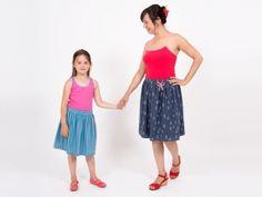 Freebook für einen Jerseyrock für Mama und Kind (nähen)
