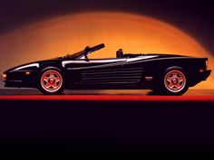 Ferrari Testarossa Spider 1986. Only one was made by Ferrari, the rest were unofficially converted by Pininfarina from normal Testarrosas. 4.9L 390hp by a flat-12 engine. 0-100km in 5.3sec, max speed 290km/h