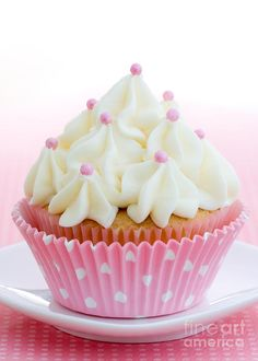 Perfect pink and white cupcakes for American Girl Craft Party! :)