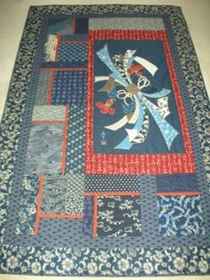 """The second quilt is called """"Noshi Matters"""", and was completed in early January, 2011. Noshi is a bow, and is used during very special Japanese occasions."""