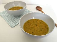 Carrot zucchini soup with coconut milk - easy and filling.