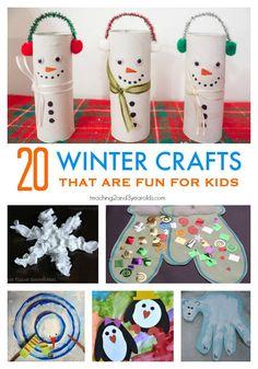 20 winter crafts for preschoolers that are easy and fun! #art #artsandcrafts #winter #preschool #kidsactivity #teacher #homeschool #crafts