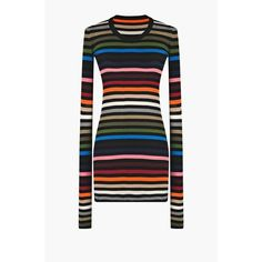 Sonia Rykiel Multicolore Striped Short Dress ($720) ❤ liked on Polyvore featuring dresses, multicolore, short, multi-color dresses, multi color striped dress, striped dress, multicolored dress and stripe dresses