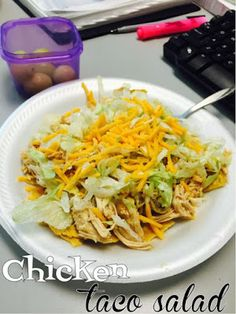 21 Day Fix Approved Chicken Taco Salad Click Picture for Recipe! <3
