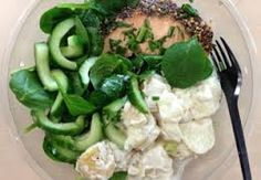 M&S Hot Smoked Salmon & Potato Salad @ 274 calories Salmon Potato, Potato Salad, Low Calorie Salad, Smoked Salmon, Salad Bowls, Health Fitness, Lunch, Diet, Chicken