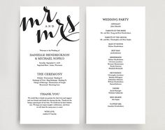 I Like The Order Of Ceremony In This One Too  Wedding Program