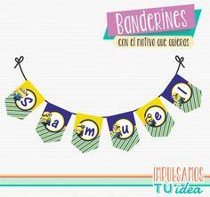 Minions - Banderín para imprimir