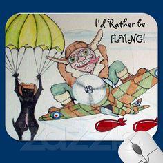 I'd Rather be Flying Mousepad | Zazzle.co.uk