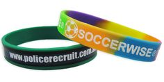 Debossed and Printed Silicone Wristbands