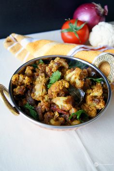 Gobi Masala (Cauliflower Masala) is a one pot, easy to make, healthy and a delicious Indian side.