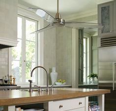 If you don't have a fan to reverse with the incoming colder weather, the Ellington composite fan is something we would consider because of the design, but more importantly, the price. Ceiling Fan In Kitchen, Kitchen Fan, Ceiling Detail, Ceiling Beams, Better Homes And Gardens, Home Decor Inspiration, Sweet Home, New Homes, House Design