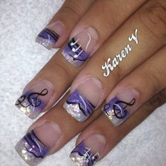 Music notes on Nails