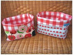 free sewing utensil, sew with farbenmix, instructions, free - Diy Fabric Basket Sewing Patterns Free, Free Sewing, Sewing Tutorials, Free Pattern, Sewing Projects, Gratis Download, Diy Bags Purses, Fabric Bins, Fabric Basket