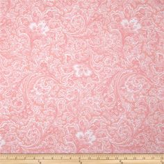 "108"" Wide Quilt Back Rosemont Malabar Petal from @fabricdotcom  Designed by Michele D'Amore for Benartex, this fabric is perfect for quilting, apparel and home décor accents. Colors include pink and white."