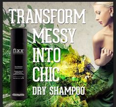 Fixx dry shampoo and other products