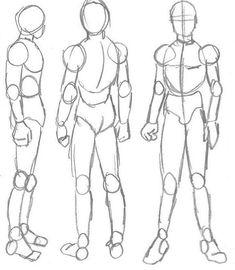 Body Kun amp Body Chan Manga figures for artists Art Drawings Sketches, Anatomy Sketches, Cool Drawings, Body Sketches, Figure Sketching, Figure Drawing Reference, Art Reference Poses, Human Figure Sketches, Arte Com Grey's Anatomy