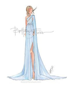 2017 Oscars | red carpet | fashion illustration | Brittany Fuson | Giuliana Rancic