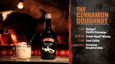 Mixologist - The Cinnamon Doughnut - Bar Rescue (Video Clip) Bar Drinks, Yummy Drinks, Alcoholic Drinks, Beverages, Bartender Recipes, Alcohol Drink Recipes, Famous Cocktails, Classic Cocktails, Desserts In A Glass