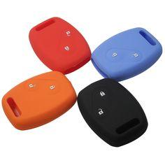 ספורט סגנון הסיליקון רכב מפתח case מכסה עבור honda cr-v סיוויק Fit פריד StepWGN שני 2 כפתורי צדף מפתח עם לוגו