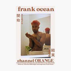 Frank Ocean Channel Orange Poster