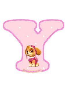 Continuamos compartiendo las más lindas letras de Paw Patrol o Patrulla Canina, otorgándote la posibilidad de descargar todo el abecedario de Skye, o simplemente optar por obtener las letras que pr… Sky Paw Patrol, Paw Patrol Party, Imprimibles Paw Patrol, Paw Patrol Birthday Girl, Cumple Paw Patrol, Imagenes My Little Pony, 4th Birthday, Party Themes, Skype