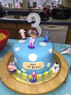 Doc McStuffins cake for boy. Happy Birthday to my lil Doc McBrycee!