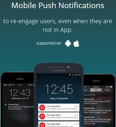Mobile Push Notification will make you able to send push notification to your user even they are not on the app which will help you to re-engage users to your mobile app and website. Samsung 15, Notification App, Customer Engagement, Do You Need, Mobile Application, Ios, Android, Make It Yourself, Website