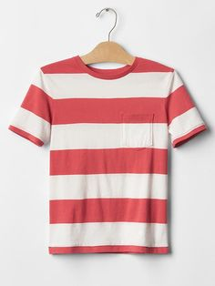 Rugby stripe pocket tee