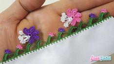 Tomurcuklu Çiçek Modeli Tığ Oyası Yapılışı Anlatımlı Türkçe Videolu #elişi #örgü #moda