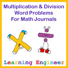 Addition, subtraction, multiplication, division word problems for math journals for and grade. Math Resources, Classroom Resources, Math Activities, Third Grade Math, Second Grade, Math Charts, Teaching Math, Math Literacy, Teaching Ideas