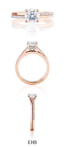 De Beers Promise Solitaire Ring in Pink Gold  Inquiries - Allana Miller: amiller@debeers.ca