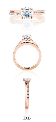 De Beers Promise Solitaire Ring in Pink Gold  Inquiries - Allana Miller: amiller@debeers.ca