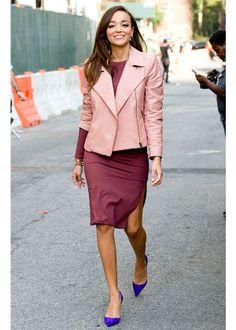 ashley madekwe hot | La veste en cuir colorée d'Ashley Madekwe