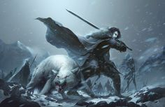 [SPOILERS] If there is one complaint I have with the show, its the lack of Ghost with Jon Snow in his battles. Fan Art: Jon Snow and Ghost, by Mujia Liao. Arte Game Of Thrones, Game Of Thrones Poster, Game Of Thrones Books, Game Of Thrones Story, Jon Snow Sword, Dark Fantasy, Fantasy Art, Fantasy Fiction, Game Of Trone