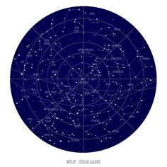 Vintage Inspired Astronomy Chart Poster, Constellations, Illustration, Printable, Download, Astrology, Stars Map, Nursery, Zodiac, Space. $5.00, via Etsy.